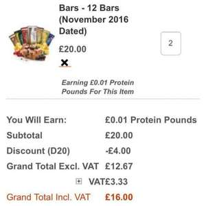 24 Quest Protein Bars £17.99 - Bodybuilding Warehouse (dated stock) - Reduced further!