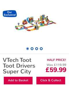 VTech Toot Toot Drivers Super City half price £59.99 @ Toys R Us