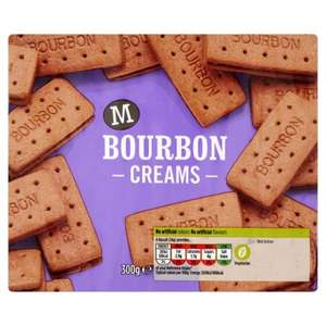 Bourbon cream biscuits 40p each or 2 packets for 70p at morrisons, 300g