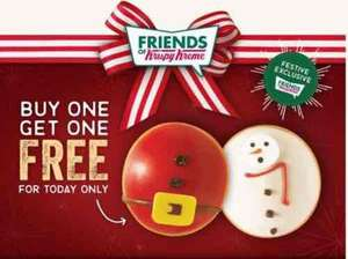Krispy Kreme - BOGOF - Today only