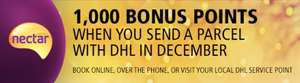 1,000 bonus Nectar points when you send a parcel with DHL in December