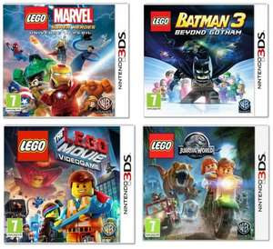 LEGO Marvel 3DS, LEGO Batman 3 3DS, LEGO Jurassic World 3DS & LEGO Movie: The Videogame 3DS Games all £10.99 each at Argos