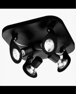 NEW PHILIPS MASSIVE GERONIMO SPOTLIGHT IN BLACK £12.49 @  Pink and Blue Gifts / EBAY (Inc. postage + bulbs)