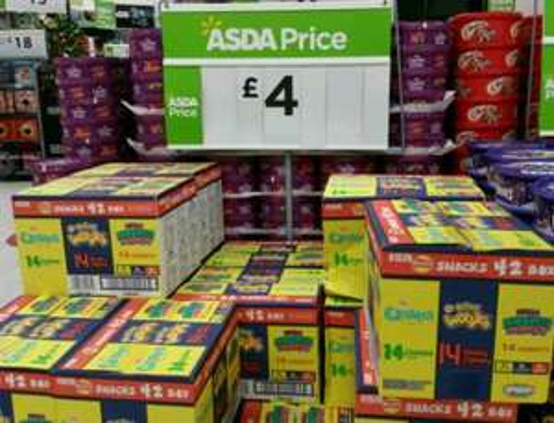 Walkers 42pk Variety Snack/Crisp Box £4 ASDA (9.5p a bag!)