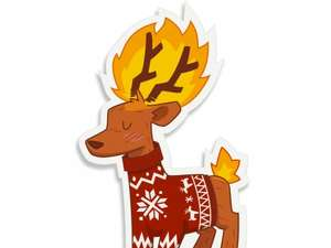 Flaming Deer iPhone case £26.16 @ Redbubble