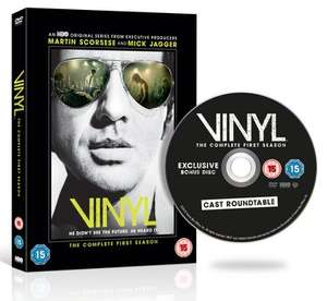Vinyl: The Complete First (and last!!!) Season DVD (hmv Exclusive with Bonus disc) £12.99 (included in 2 for £20), Blu-Ray (Non-Exclusive Edition) £14.99 (included in 2 for £25) both with free delivery @ HMV