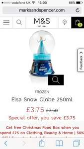 M&S Frozen bath half price £3.75