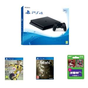 PS4 Slim 500GB with FIFA 17, Fallout 4 and NOW TV 2 Month Sky Cinema Pass £239.99 @ Game