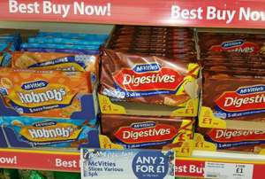 Mcvities Digestives Choc & Caramel and Hobnobs 5 fingers 2 for £1 at herons