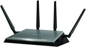 NETGEAR D7800-100UKS Nighthawk AC2600 Dual Band 11 AC (MU-MIMO Wi-Fi) VDSL/ADSL Modem Router for Phone Line Connections -  £189.99 @ Amazon