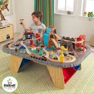 COSTCO - KidKraft Waterfall Junction Train Set & Table (3+ Years)  - ONLINE DEAL ONLY