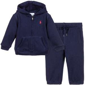 RALPH LAUREN Baby Boys Two Piece Navy Tracksuit £24.99 (£1.99 c&c) @ TK Maxx