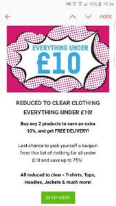 everything under £10 reduced clothing @ ZAVVI