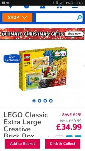 LEGO Extra large creative brick box £34.99 @ Toys R Us