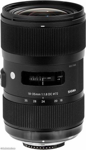 Sigma AF 18-35mm F1.8 DC HSM Lens Art Series Nikon Mount £467 @ kachashop / eBay