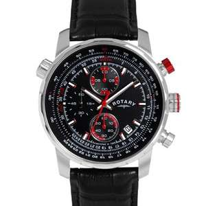 Rotary Mens Interchangeable Leather Strap Watch - £69.99 @ Argos
