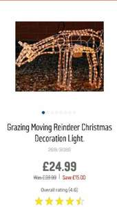 Grazing moving reindeer Outdoor Christmas Light £24.99 @ Argos *Free C&C)