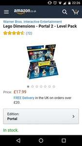 Lego Dimensions Portal 2 Level Pack £17.99 Amazon