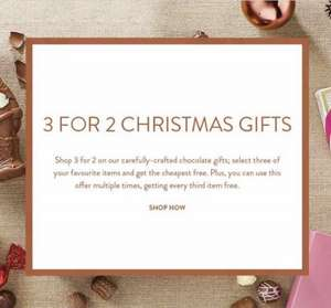 Thorntons Christmas chocolate gifts 3 for 2 + %20 discount!