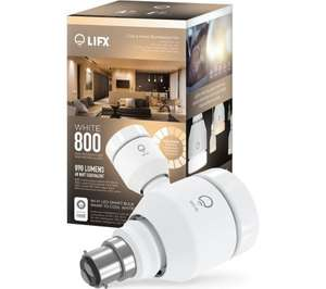 [OOS] LIFX White 800 WiFi LED Smart Bulb £24.99 Delivered @ Currys + 1.1% Quidco or 1% TCB
