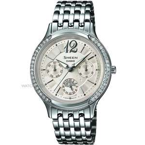 Casio Sheen Ladies' Stainless Steel Crystal Set Watch, was 160, now £79.99, (+ save £10.00 through quidco) @ h.samuel