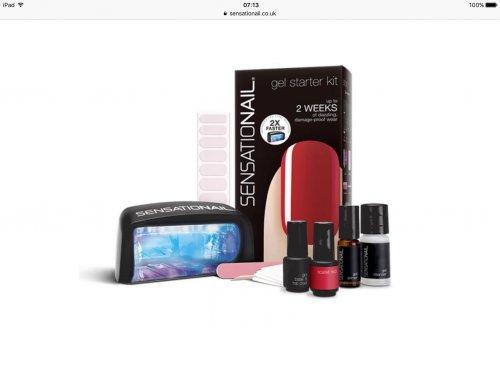 Sensationail Scarlet Red Gel Nails Starter Kit £35