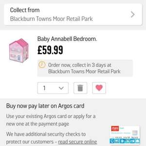 Baby Annabell Bedroom back in stock must have toy 2016 £59.99 @ Argos