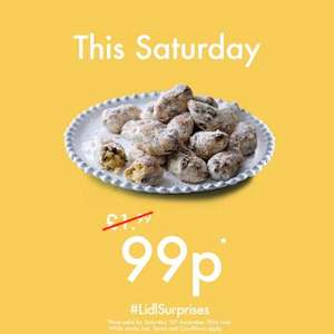 Mini Butter Stollen half price instore SATURDAY only 99p @lidl