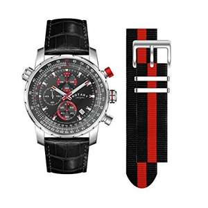 ROTARY Men's Interchangeable Chronograph Leather Strap Watch £67.89 @ Amazon (Sold by uhrenhuette & more and Fulfilled by Amazon)