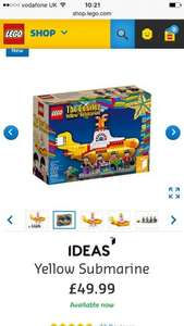 The Beatles Lego Yellow Submarine £49.99 Lego Shop