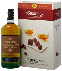 Singleton of Dufftown 15 Year Old Single Malt Scotch + 4 whisky tasting glasses + recipe book £32.99 delivered @ Amazon