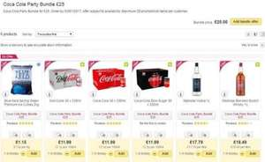 Cola Party Bundle 3x 30 pack of Coke + 1L Vodka + 1L Whisky at Ocado - £25 (minimum spend required on Ocado of £40)