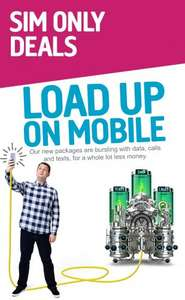 Plusnet mobile 2gb data 1000 minutes and unlimited texts £7.50 pm(poss £8.80 TCB)