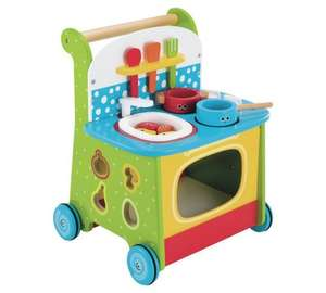 Early Learning Centre wooden activity kitchen walker for £29.99 down from £44.99 @ Argos