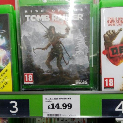 rise of the tomb raider xbox one £14.99 @ Sainsbury's