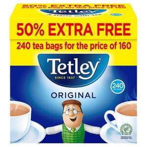Tetley Tea Bags 240 pack £2.50 @ Iceland