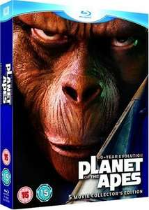 Planet of the Apes: 5-Movie Collector's Edition [Blu-ray] [1968] £8.00 ( Prime) / £9.99 (Non Prime) @ Amazon