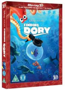 Finding Dory 3D+2D blu ray £16.99 free delivery over £50 @ Disney store