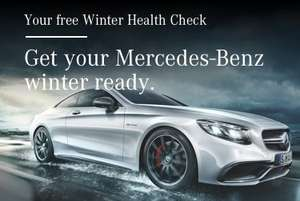 Mercedes-Benz Free Winter Health Check inc a free soft lightweight Mercedes-Benz branded fleece blanket,  car wash and vacuum