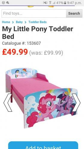 My little pony toddler bed - £49.99 @ Smyths