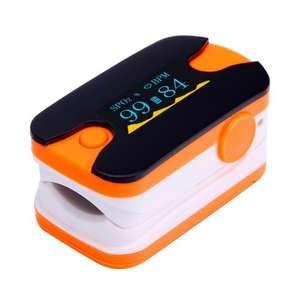 TOOGOO(R) OLED Finger Tip Pulse Oximeter Oxymeter Blood Oxygen Monitor Black+Orange - £8.64 (Sold by Toogoo, fulfilled by Amazon)