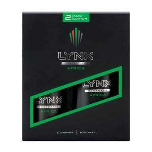 Lynx Africa Duo Body Spray & Body Wash Gift Set WAS £7.00 NOW £2.50 @ Superdrug (C&C)