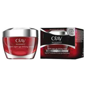 Olay Regenerist 3 Point Super Age-Defying Moisturiser (50 ml) was £29.99 now £12.99 (Prime) / £16.98 (non Prime) at Amazon