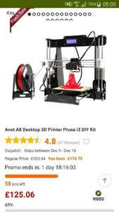 3d printer @ gearbest flash sale £125.06 free delivery