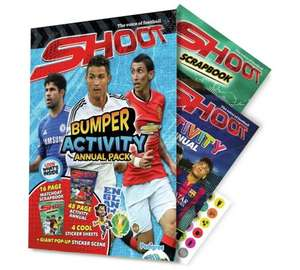 Shoot 2015 Annual and Activity Bumper Pack football 0.10p at Argos