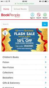 Mr Men Complete Collection 50 books - £24.30, The World of Peter Rabbit Complete Collection 23 Books - £24.30  and loads more @The Book People Flash Sale plus Extra 10% off With Code and Free Delivery on orders Over £25 (also £10 QUIDCO bonus on £25