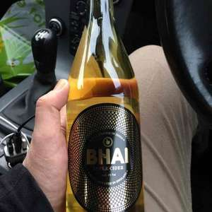 Bhai cider 660ml. £1 a bottle, Home Bargains.