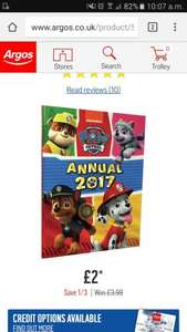 Paw patrol 2017 annual only £2.00 at argos