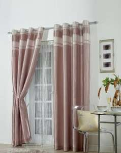 Adriana Contrast Pleated Top Border Curtains from £9.99 + £4.99 p&p at ace.co.uk