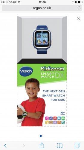 VTech Kidizoom Smart Watch DX - Green £7.99 Argos